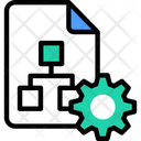 Flow Chart Implementation Icon