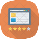Flowchart Rating Sitemap Icon