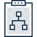 Flowchart Clipboard Diagram Icon
