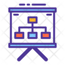 Flowchart Presentation Board Icon
