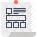 Flowchart Workflow Sticky Icon