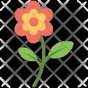 Flower Red Stem Icon