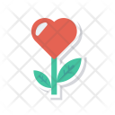 Flower Heart Love Icon
