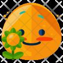 Flower Emoji Face Icon