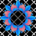 Flower Logogram Shape Icon