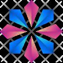 Flower Floral Logogram Icon