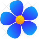 Blue Flora Nature Icon