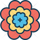 Blossoming Floral Flower Icon