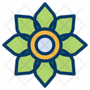 Floral Flower Green Icon