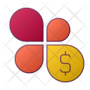 Flower Dollar Graph Icon