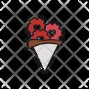 Flower Heart Happy Icon