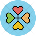 Flower Heart Petals Icon
