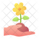 Flower Hand Nature Icon