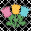 Flower Valentines Bouquet Icon