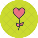 Flower Heart Rose Icon