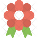 Flower With Ribbon Icon