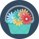 Flower Basket Flower Bouquet Flowers Icon