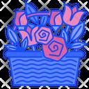 Flower Basket Summer Floral Icon