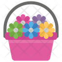 Flower Bed Flower Basket Floral Bucket Icon