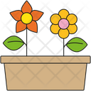 Flower Bed Flowers Raised Bed Icon
