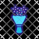 Bouquet Flower Contour Icon
