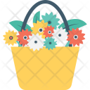 Flower Bucket Flowers Icon