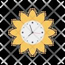 Flower Clock Flourish Flower Shape Icon