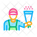 Flower Shop Courier Icon