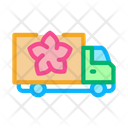Flower Delivery Truck Icon
