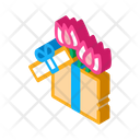 Flower Gift Box Icon