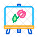 Painted Picture Flower Icon