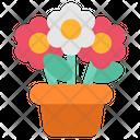 Quarantine Stayhome Garden Flowers Icon