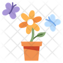 Flower Butterfly Nature Icon