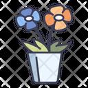 Flower Blossom Pot Icon