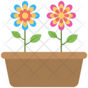 Flower Pot Colored Icon