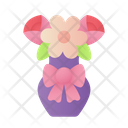 Flower Pot Flowers Roses Icon