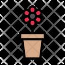 Flower Pot Plant Nature Icon