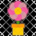 Flower Pot Leaf Flower Icon