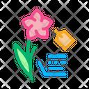 Flower Label Price Icon
