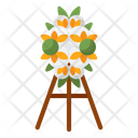 Flower Stand Flower Pot Plant Stand Icon