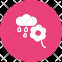Flower With Rain Icon