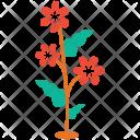 Flowering Plant Polka Icon