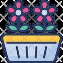 Flowerpot Flowers Interior Icon