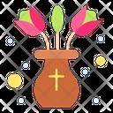 Flowerpot Decoration Flower Icon