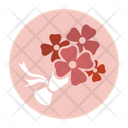 Flowers Bouquet Love Icon