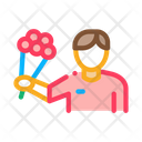 Courier Delivery Flowers Icon