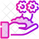 Spring Flowers Growth Icon