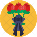 Funeral Service Flowers Decoration Icon