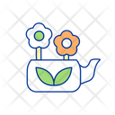 Flowers In Teapot Icon