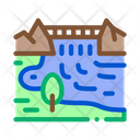 Flowing River Mountain Icon